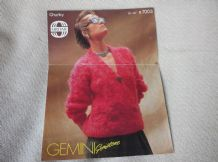 VINTAGE KNITTING PATTERN SIRDAR B7003 LADIES CHUNKY GEMINI JACKET 30 - 40""